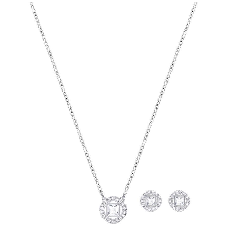 Swarovski-Angelic-Square-Set-White-Rhodium-plating-5356951