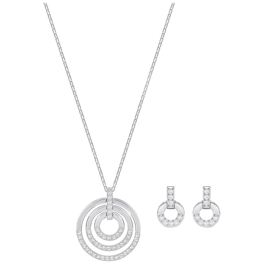 Swarovski-Circle-Set-Medium-White-Rhodium-plating-5367727