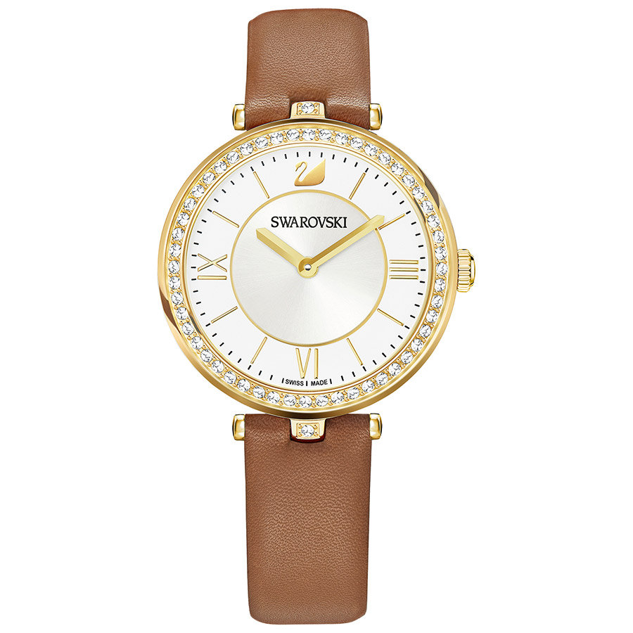 Swarovski-Aila-Dressy-Lady-Watch-Leather-strap-Brown-Gold-tone-5376645