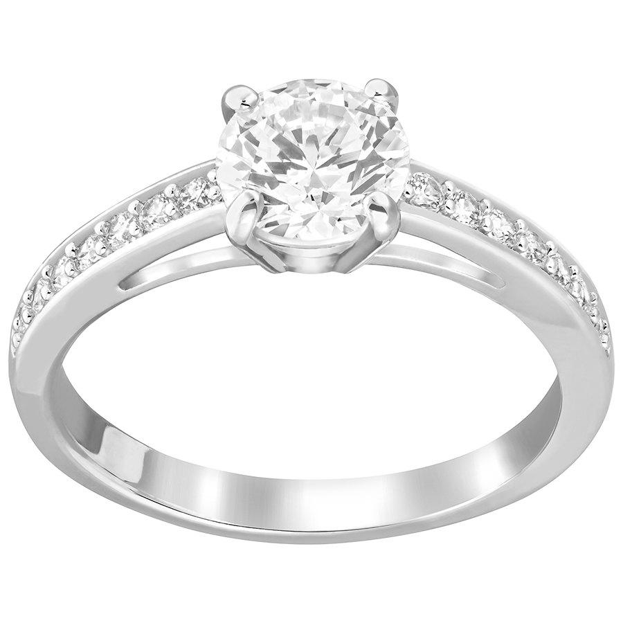 Swarovski-Attract-Round-Ring-White-Rhodium-Plating-5032922