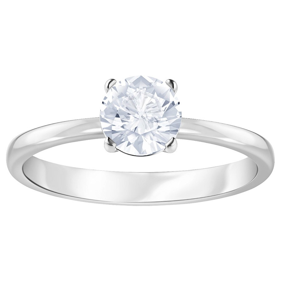 Swarovski-Attract-Round-Ring-White-Rhodium-plating-5402428