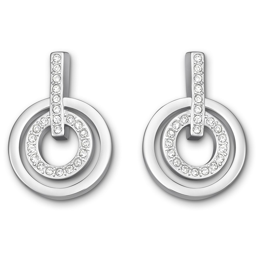 Swarovski-Circle-Mini-Pierced-Earrings-White-Rhodium-Plating-5007750