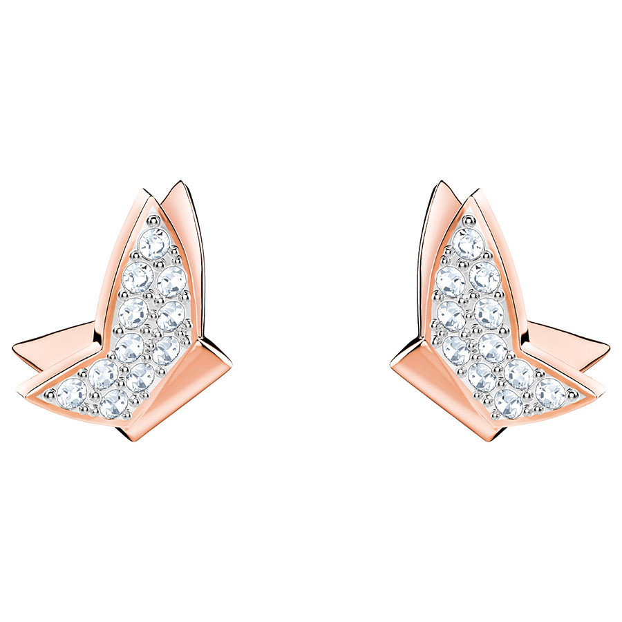Swarovski-Lilia-Fig-Pierced-Earrings-White-Rose-gold-plating-5382367