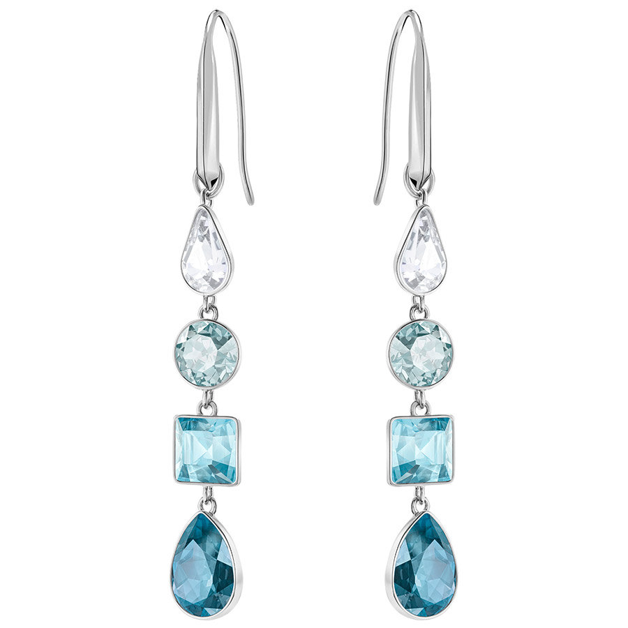 Swarovski-Lisanne-Pierced-Earrings-Blue-Rhodium-plating-5395238