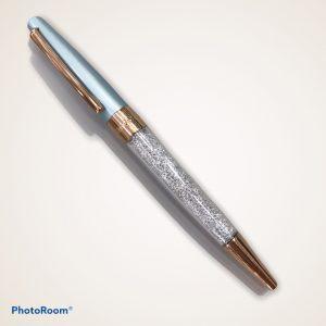 visetti  pen light blue & crystal